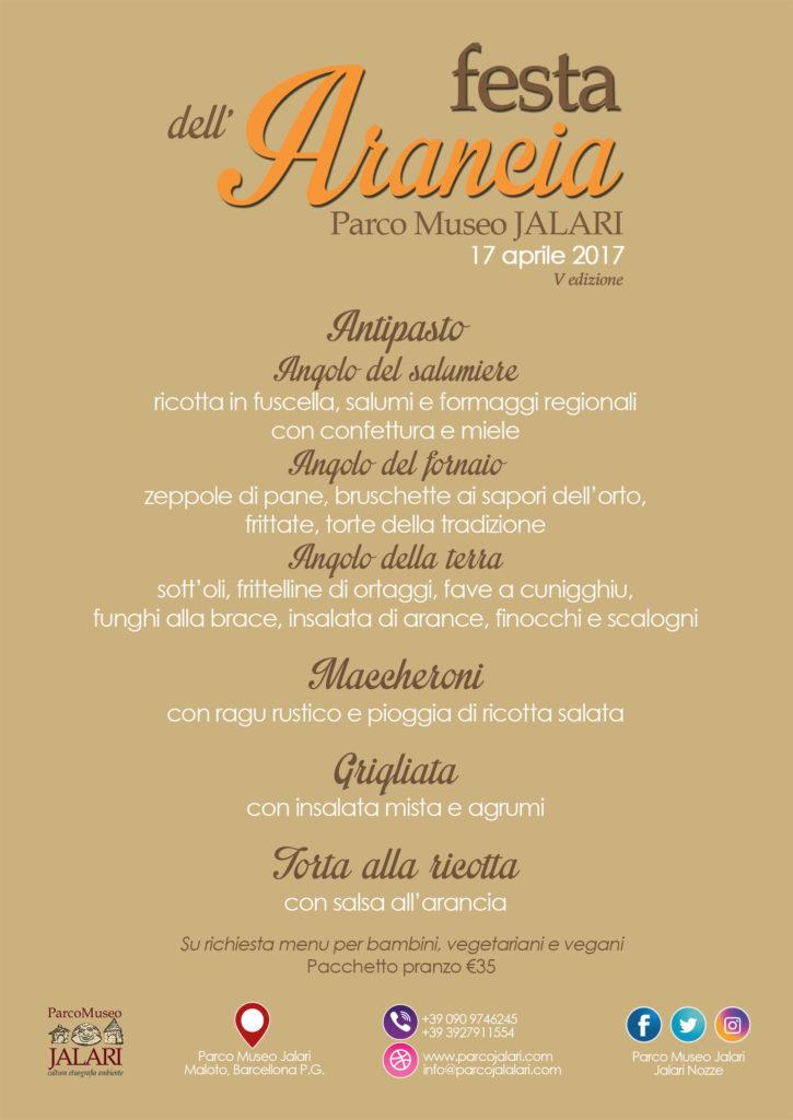 menu agriturismo pasquetta festa dell'arancia parco museo jalari messina sicilia barcellona pozzo di gotto