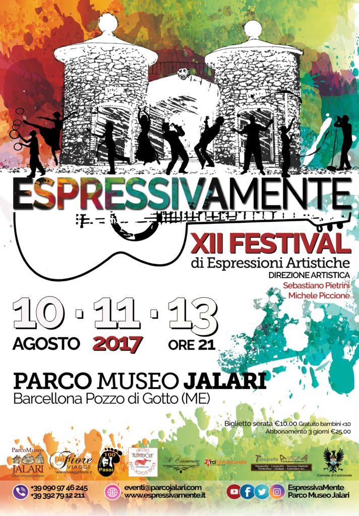 EspressivaMente Festival 2017 dal 10 al 13 agosto Parco Museo Jalari Barcellona Pozzo di Gotto Sicilia