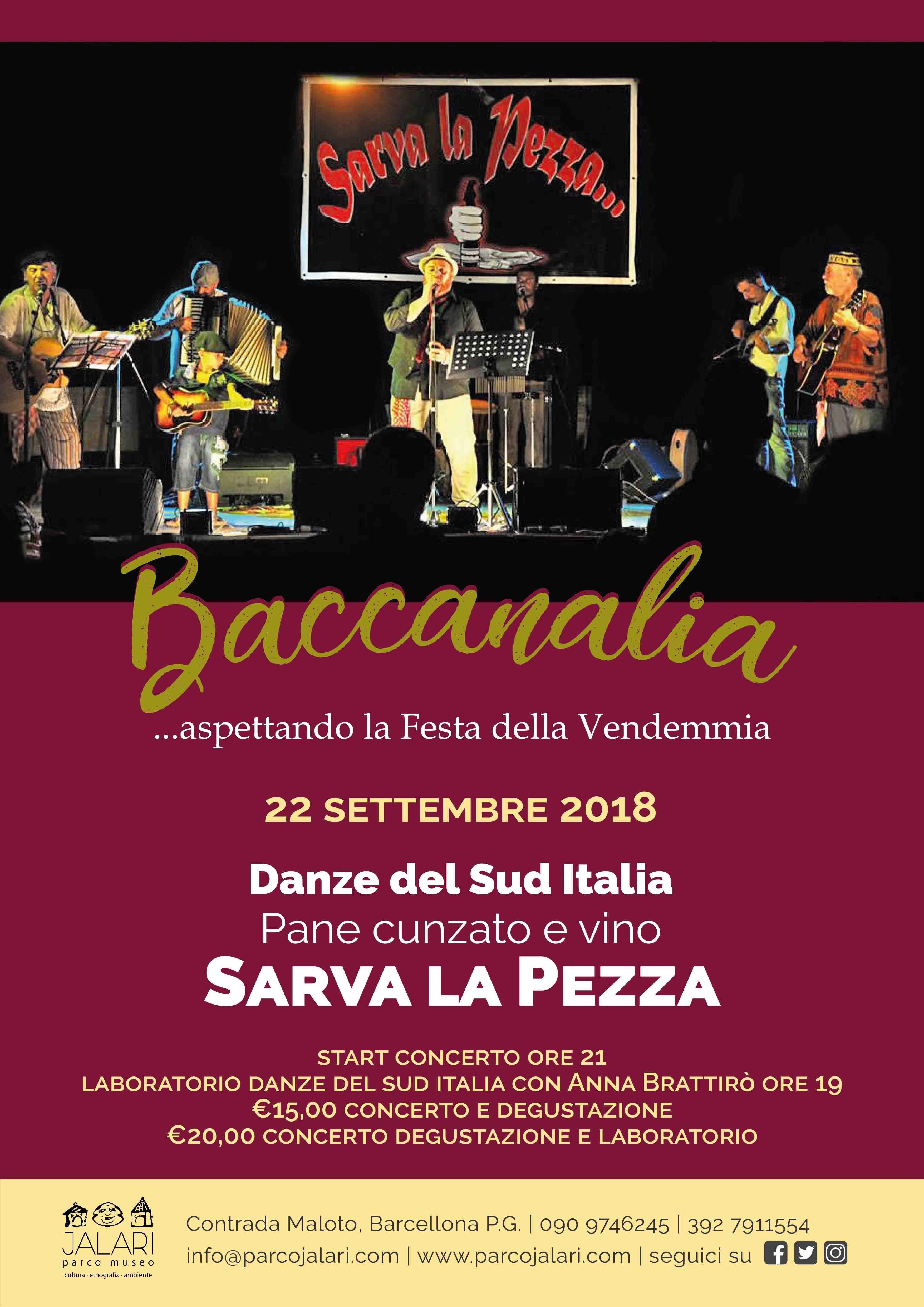 Sarva la Pezza in concerto al Parco Museo Jalari