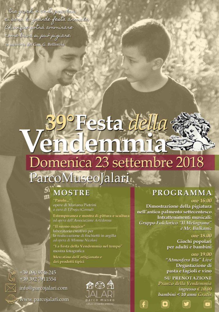 Festa della Vendemmia 2018 al Parco Museo Jalari