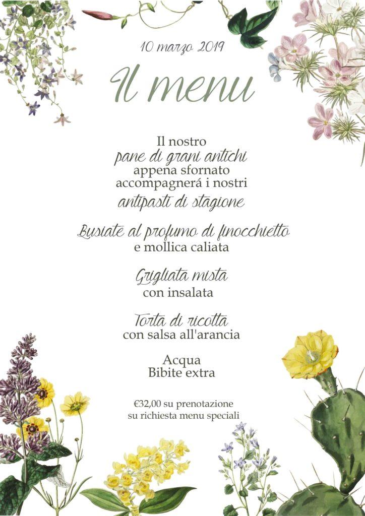 menu inaugurazione nuova stagione Parco Museo Jalari di Barcellona Pozzo di Gotto (ME)