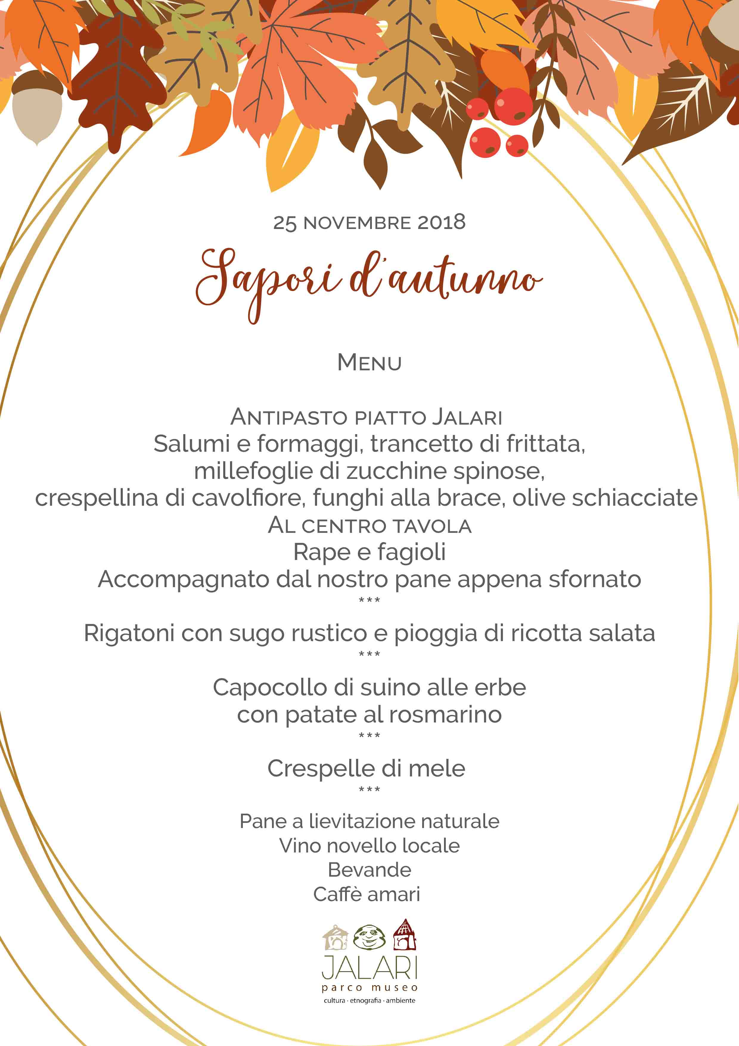 domenica pranzo in agriturismo al Parco Museo Jalari