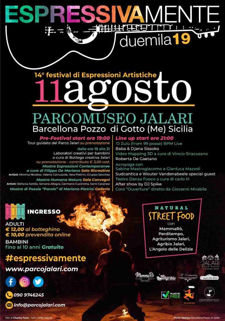 Espressivamente festival 2019 al Parco Museo Jalari di Barcellona P.G.